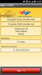 Hjelp 113-GPS - screenshot thumbnail
