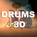 Drums 3D logo