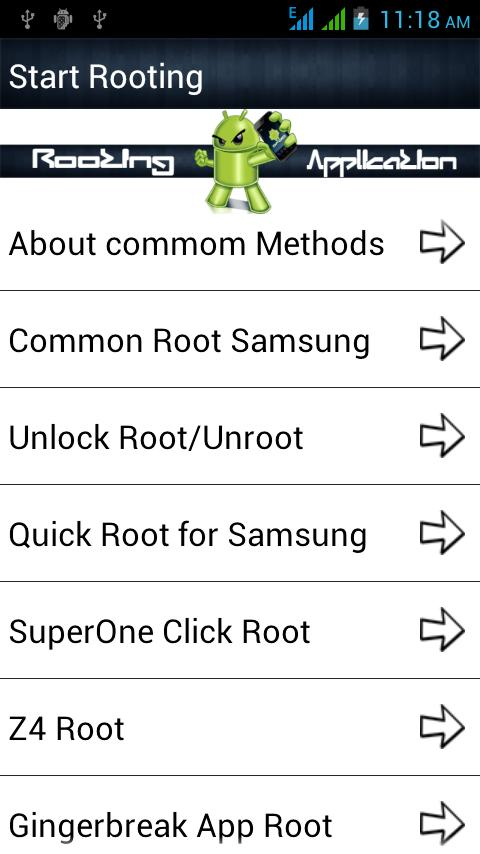 Root android : Rootland - screenshot