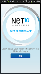 Net10 Data Settings