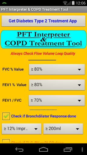 PFT Interpreter COPD Rx