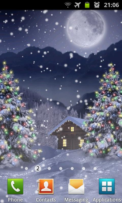 Winter Snow Xmas LWP Free- screenshot