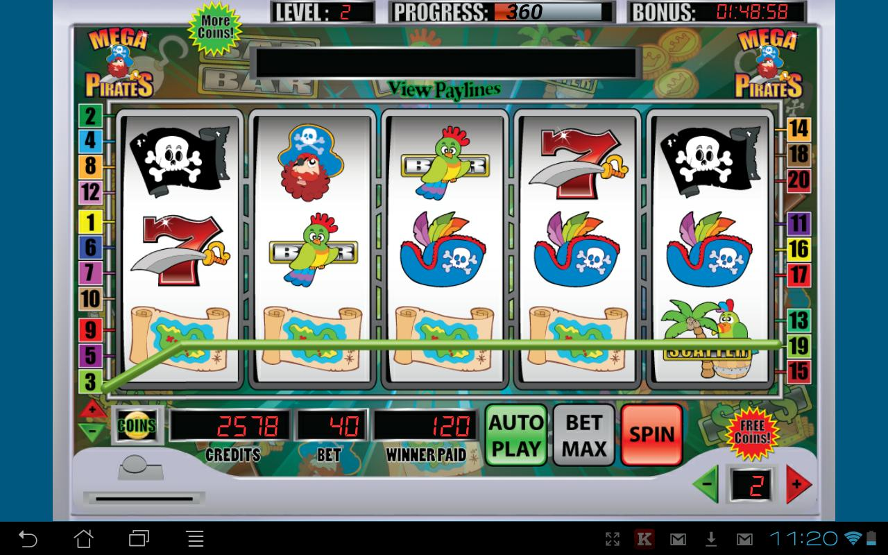 Mega Pirates Slot Machine - screenshot