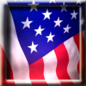 Animated American Flag LWP icon
