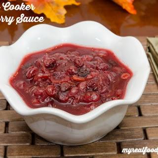 3 Ingredient Slow Cooker Cranberry Sauce