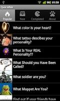 Screenshot of Quiz Whiz for Facebook