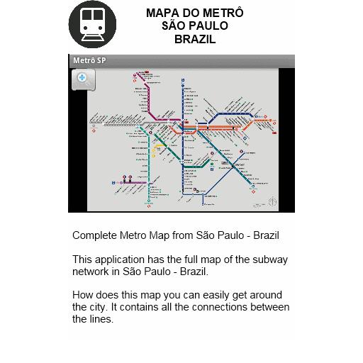 Metro Map  Sao Paulo  Brazil