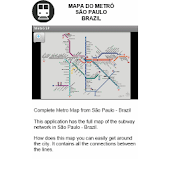 Metro Map - Sao Paulo - Brazil