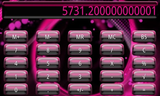Pink Galaxy Calculator Theme - screenshot thumbnail