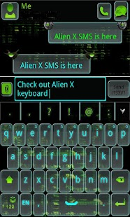 GO Keyboard Alien X- screenshot thumbnail