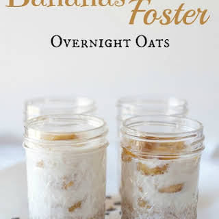 Bananas Foster Overnight Oats.