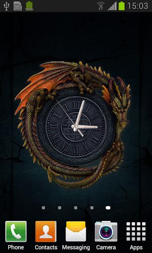 玩免費個人化APP|下載Gothic Dragon Clock Wallpaper app不用錢|硬是要APP