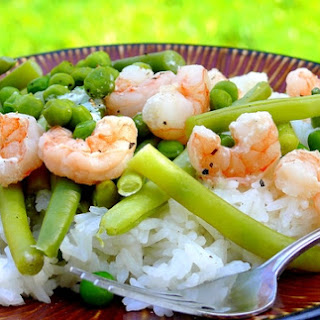 Shrimp Over Coconut Rice Recipe