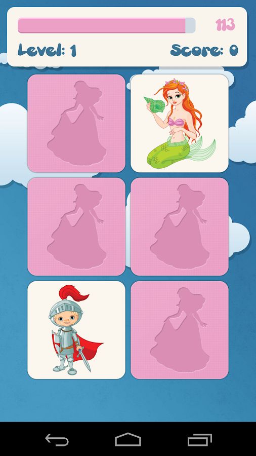 Princess memory game for kids - screenshot