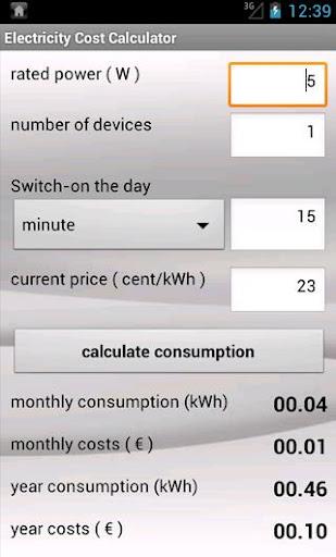 Power Cost Calculator