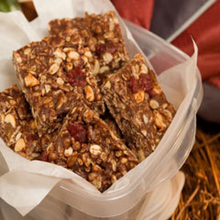 Chewy Trail Mix Peanut Butter Bars Recipe