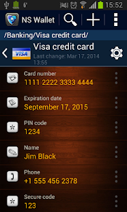 NS Wallet Password Manager App- screenshot thumbnail