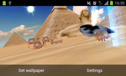UFOS over Egypt Live Wallpaper