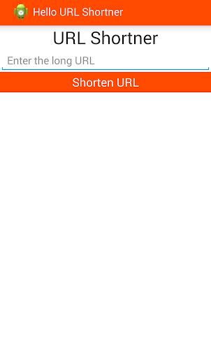Android URL Shortner