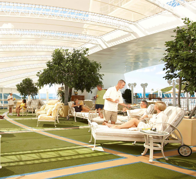 The Sanctuary aboard your Princess Cruises ship offers guests a relaxing outdoor spa-inspired escape.