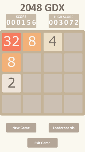 2048 GDX with leaderboard