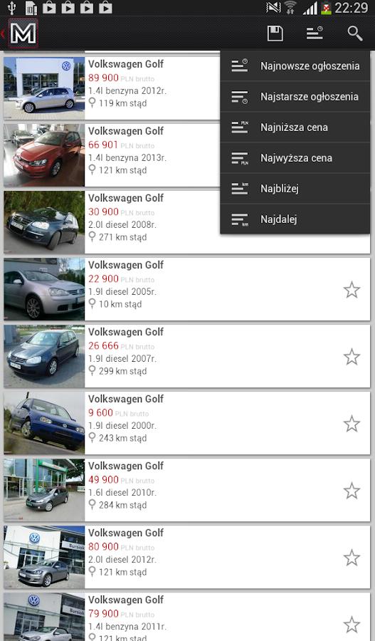 otoMoto - screenshot