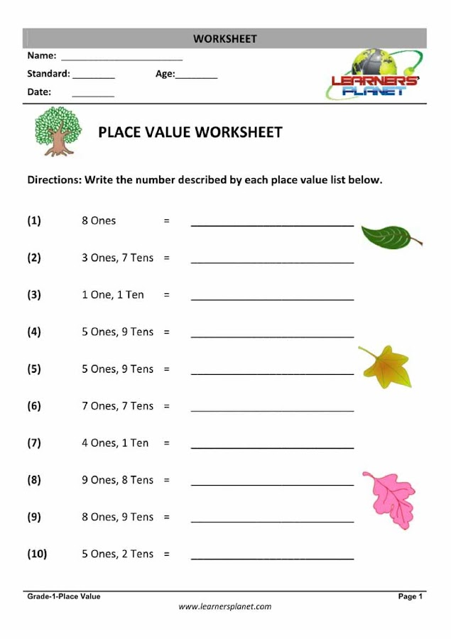 Printables. Maths Grade 1 Test Paper. Gozoneguide Thousands of ...