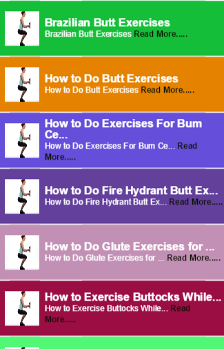 How to Butt Exercises
