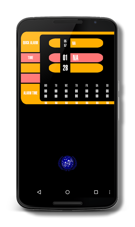 LCARS Alarm Clock FREE- screenshot
