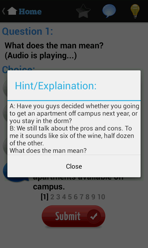 English Listening Test - screenshot