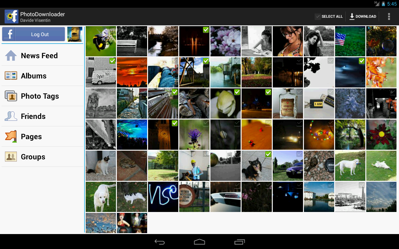 MyPhotoDownloader for Facebook - screenshot