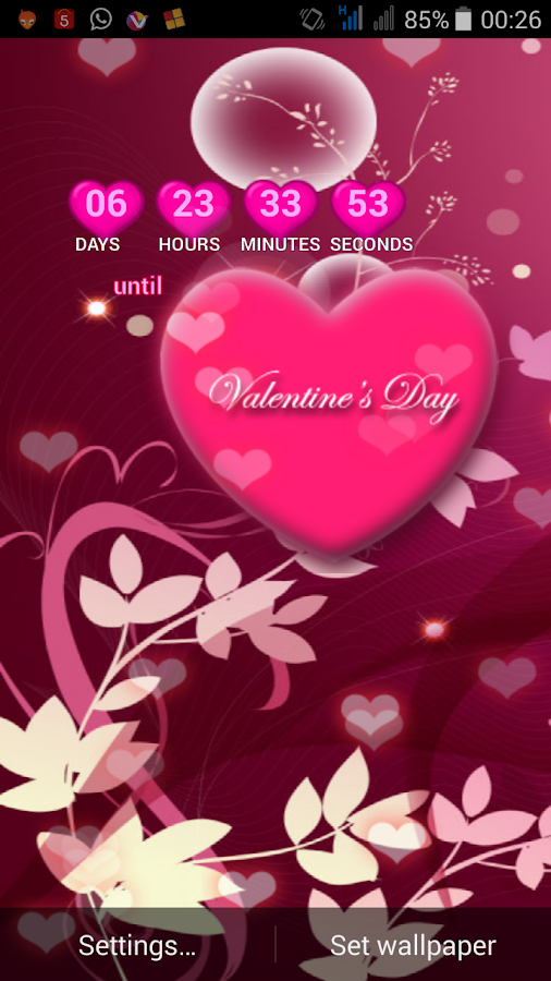 2017 valentine live wallpaper screenshot - Live Valentine Wallpaper