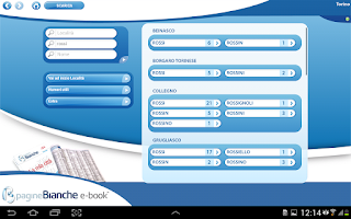 Screenshot of PagineBianche e-book