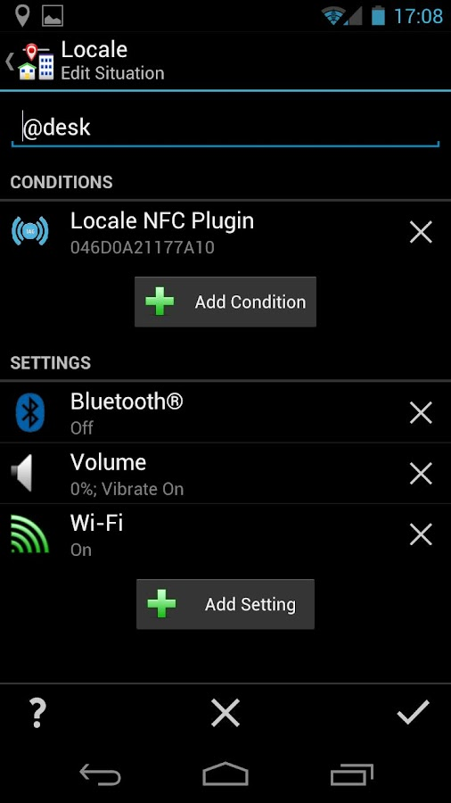Locale NFC Plugin- screenshot