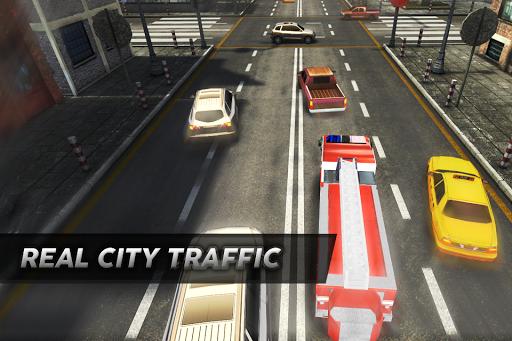 Fire Truck Joyride Traffic 3D