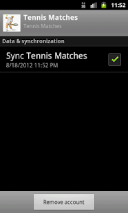 Tennis Schedules - screenshot thumbnail