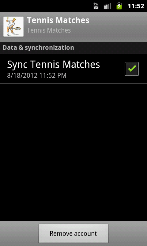Tennis Schedules- screenshot