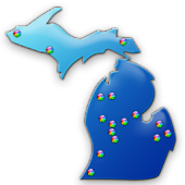 Michigan Fishing Maps - 14K