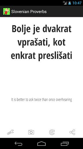 免費生活App|Slovenian Proverbs|阿達玩APP