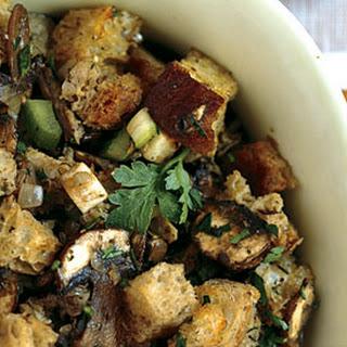 Giblet and Mushroom Bread Salad