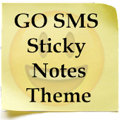 GO SMS Sticky Notes Theme