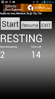 Screenshot of Vocal Workout Timer