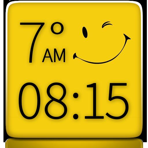 スマイリー時計天気ウィジェット 天氣 App LOGO-硬是要APP