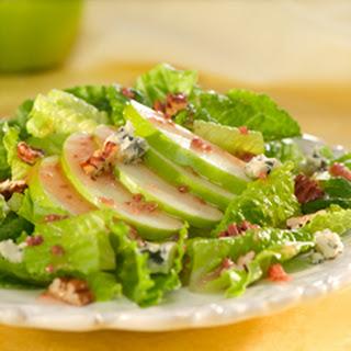 Romaine & Green Apple Salad With Pecans.
