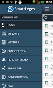 SmartLeges Law Reader- screenshot thumbnail