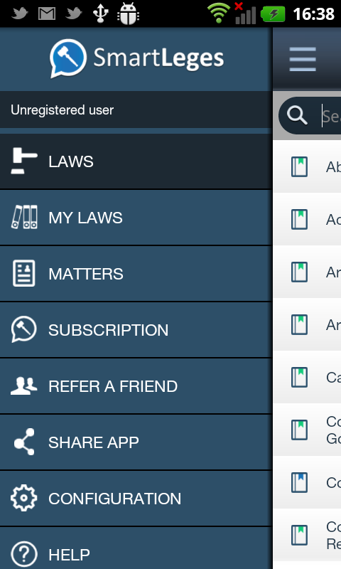 SmartLeges Law Reader- screenshot