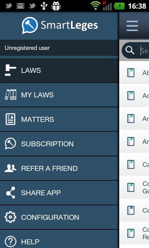 SmartLeges Law Reader - screenshot