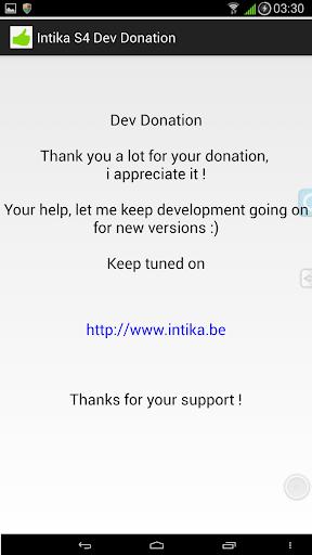 Intika S4 Dev Donation