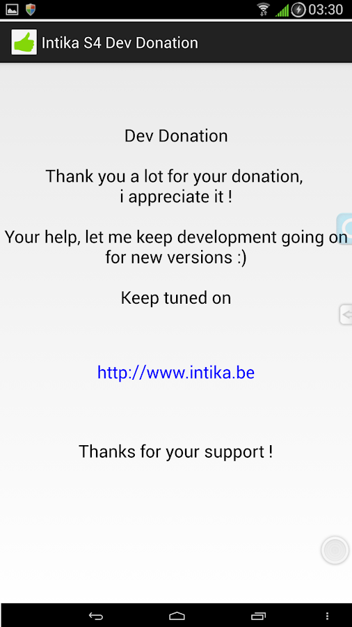 Intika S4 Dev Donation- screenshot