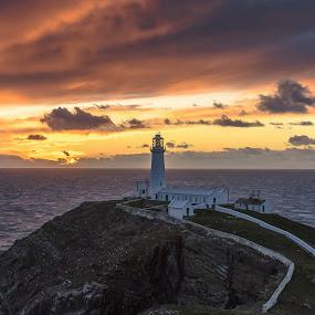 Lighthouse pastel by Don Cardy - Landscapes Sunsets & Sunrises (  )